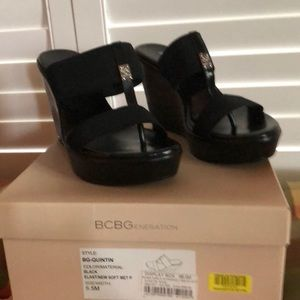 BCBG Quinton Wedge Sandal